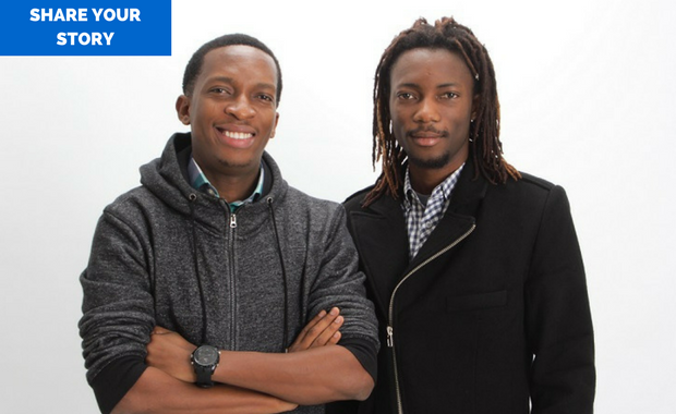 The Paystack founders, Shola Akinlade (r) and Ezra Olubi